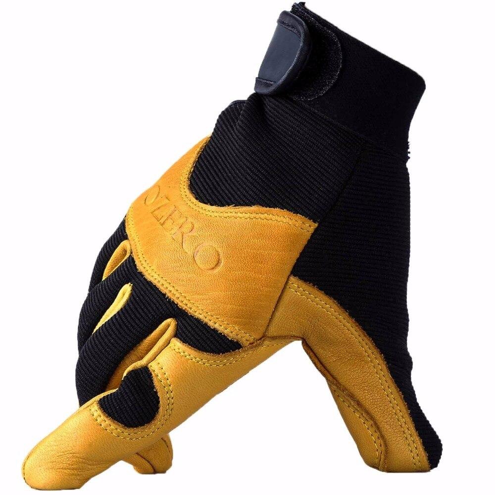 ¡Novedad de 8003! Guantes de trabajo para conductores Deerskin, guantes de seguridad de cuero para hombres, guantes de seguridad para trabajadores de carrera y trabajo, guantes para hombre