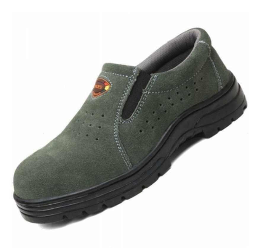 Artı boyutu 38-46 iş çizmeleri erkek güvenlik ayakkabıları Unisex hava örgü iş ayakkabısı erkek botları yüksek kaliteli çelik ayak emniyet çizmeler erkek