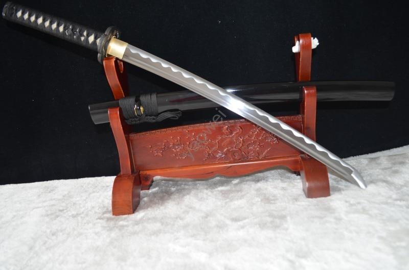Hand Forged Bamboo Pattern Japanese Samurai Wakizashi Sword 1045 Carbon Steel