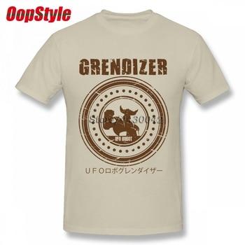 c940f029295 НЛО робот грендайзеру Goldrake футболка для Для мужчин Изделие из хлопка с  короткими рукавами плюс Размеры