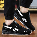 Colchón de Aire de Moda de los hombres Zapatos Ocasionales de Los Hombres con cordones Negro Rojo Azul Para Hombre Entrenadores Zapatos 2016 Del Otoño Del Resorte caminar Trotar Zapatos