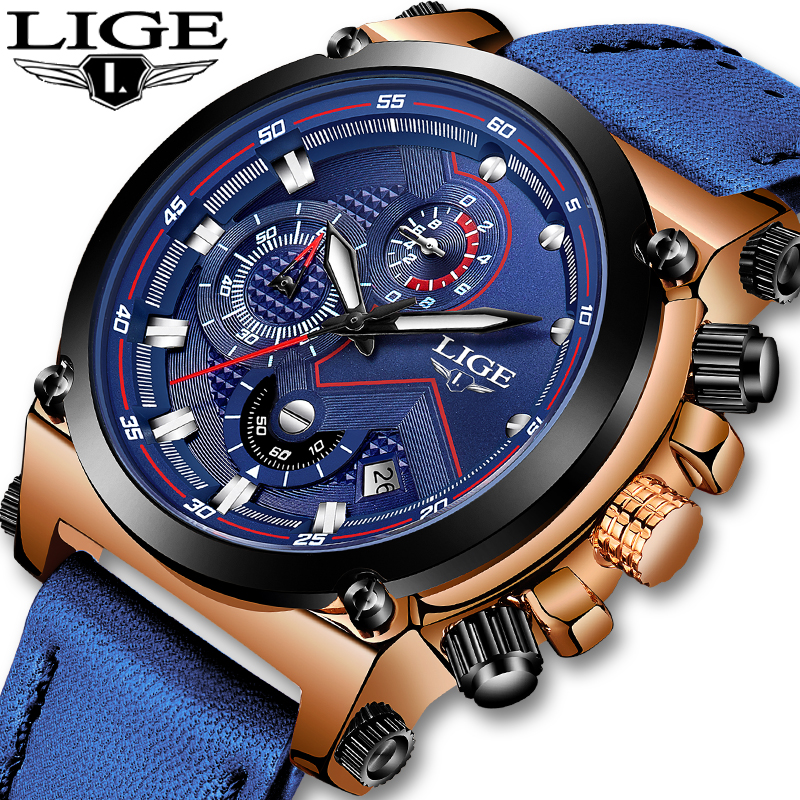 Mens Watches Top Brand LIGE 2019 New Luxury Casual Quartz Clock Men Waterproof Leather Sport Chronograph Watch Relogio MasculinoMens Watches Top Brand LIGE 2019 New Luxury Casual Quartz Clock Men Waterproof Leather Sport Chronograph Watch Relogio Masculino