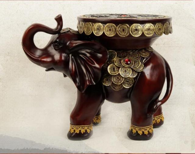 Elephant grande sgabello decorazione di vasi di cambiare lo
