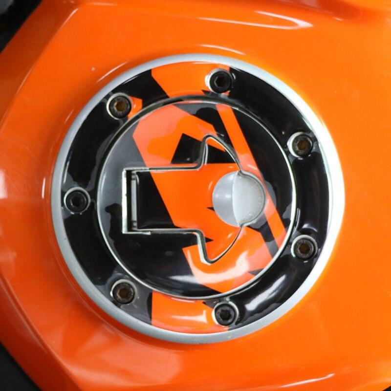 Orange Gas Tank Side Pad Fuel Grip Decal Protector FO KTM DUKE 125 200 390 13-17