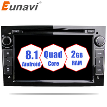 "Eunavi 2Din Quad Core 7"" Android 8.1 Car DVD Radio Player GPS Navi for Vauxhall Opel Astra H G Vectra Antara Zafira Corsa"