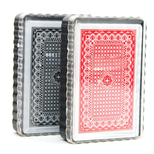 Hot UK 2 X Deck Set 100% Plastic Poker Size Playing Cards Fun Time