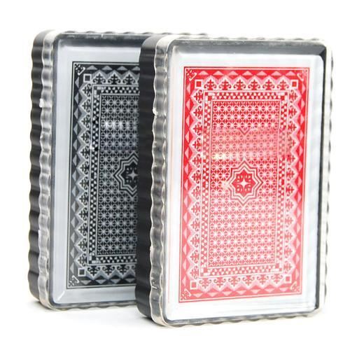Hot UK 2 X Deck Set 100% Plastic Poker Size Carte da gioco Fun Time