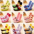 New Style Children Toddler Cartoon Socks Baby Boy Girl Kid Indoor Floor Sock Leather Sole Anti Slip Sock Cute Animal Design