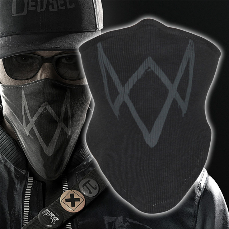 Watch Dogs 2 Dedsec Aiden Marcus Holloway Mask Face Muffle Cosplay Scarf Wrap