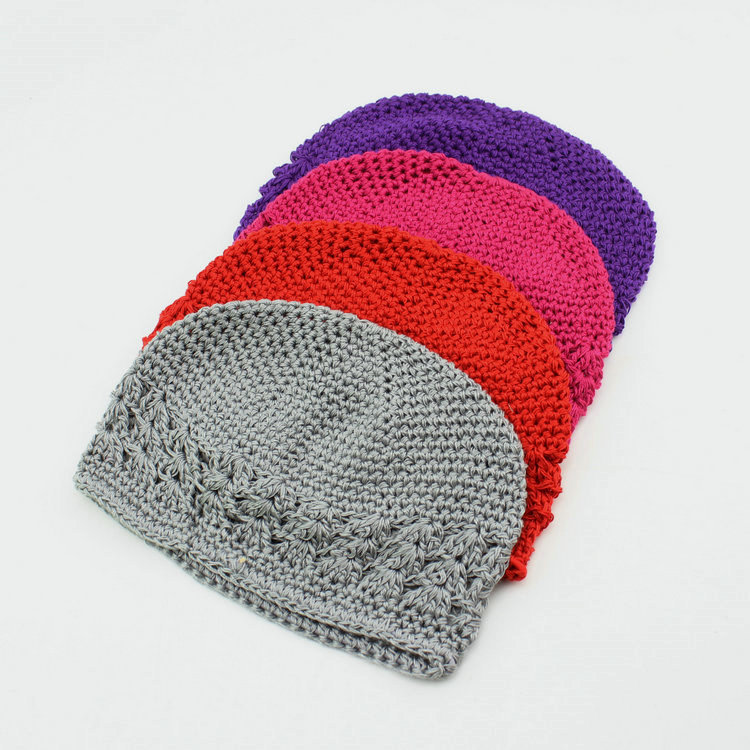 Free Shipping 21 Colors New Popular Kufi Hats Girl Crochet Hat Baby