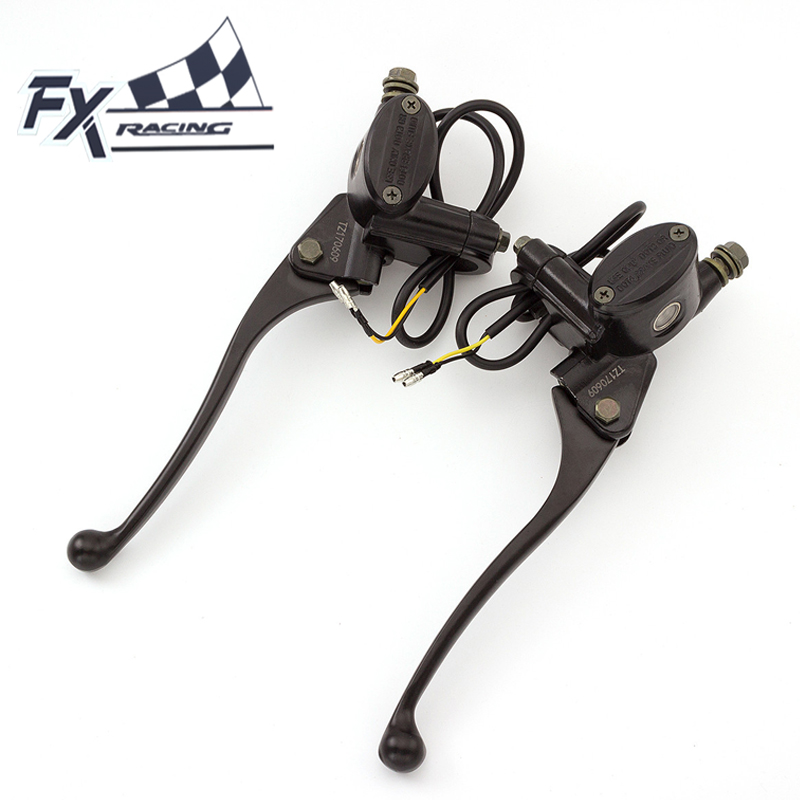 FX CNC 7/8 Universal Master Cylinder Reservoir Dirt Bike Motorcycle Brake Clutch Lever Hydraulic Lever For 50CC-200CC Motorcycle universal front clutch brake master cylinder reservoir handle bar lever aluminum one pair 7 8 22mm orange