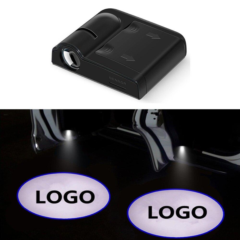 2 Pcs Car Door Welcome Light For Peugeot 206 307 407 208 Suzuki Swift Grand Vitara Fiat 500 Lada LED Logo Laser Projector