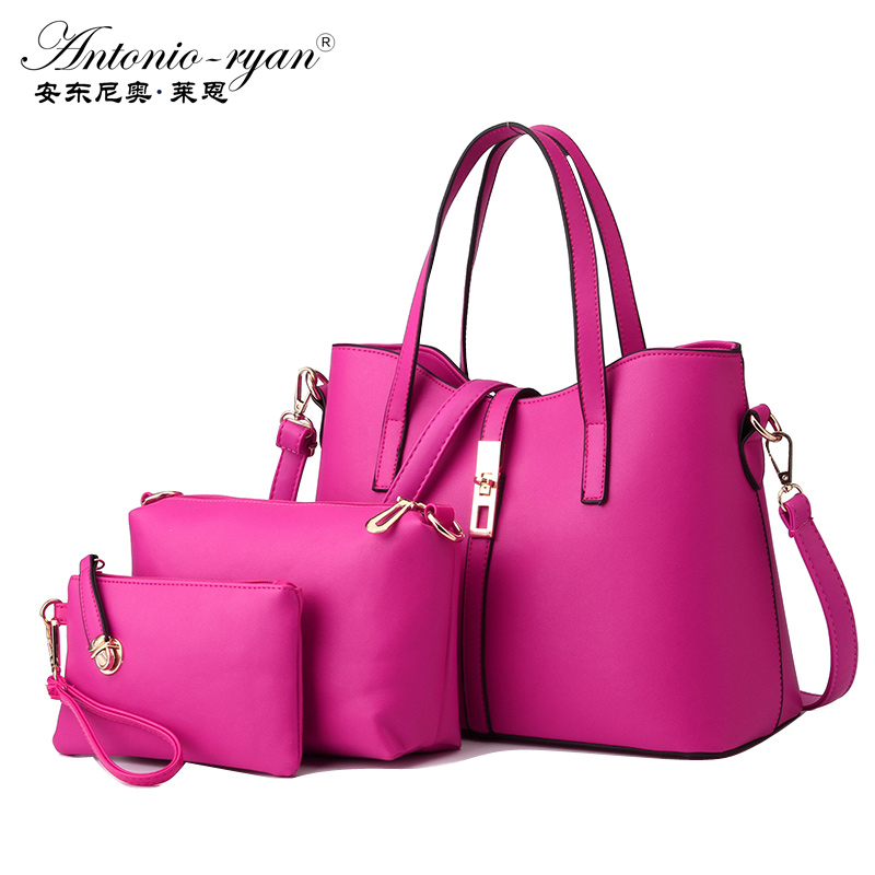 Antonio Ryan Brand Fashion women Crossbody bag three pieces set handbag female m