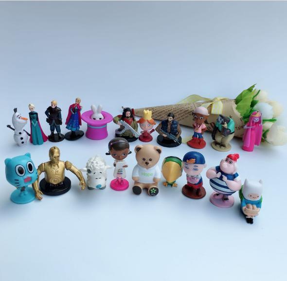 50Pcs//lot Ball Capsule Toys Plastic Mini Figure Dolls Kids Gift New toy