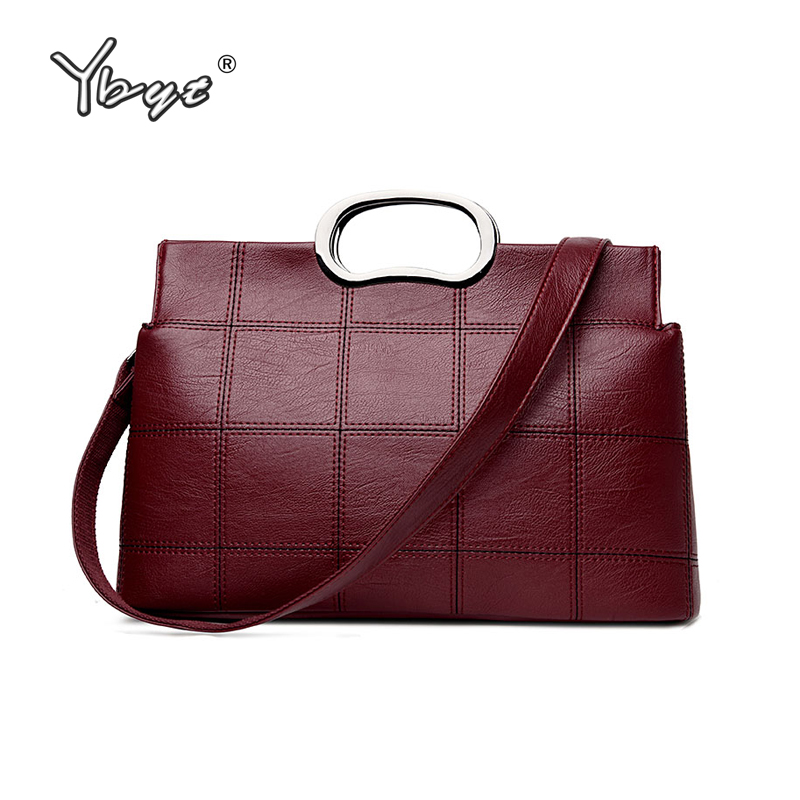 цены  YBYT brand 2017 new PU leather female formal totes bag elegant women briefcase bags ladies shoulder messenger crossbody handbags