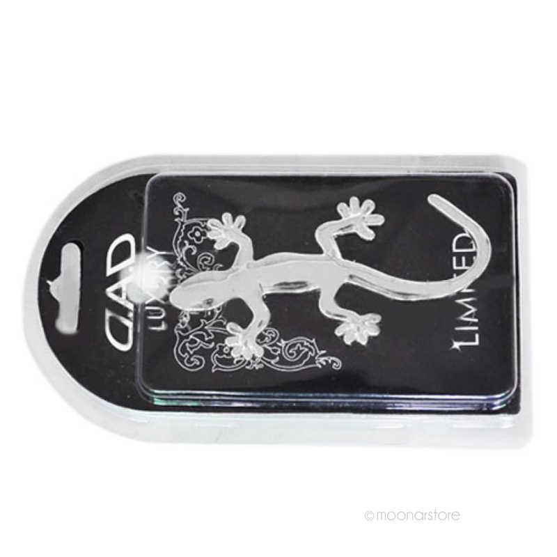 Fashion 3D Kadal Gaya Setan Stiker Mobil Emblem Logo Kertas 3D Mobil Stick Decal