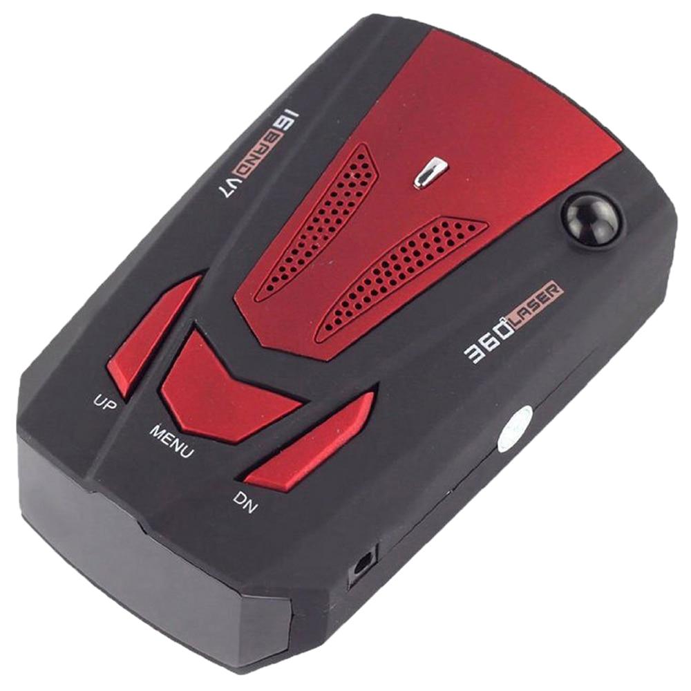 Venta caliente V7 pantalla LED 360 grados coche velocímetro GPS Radar (rojo)