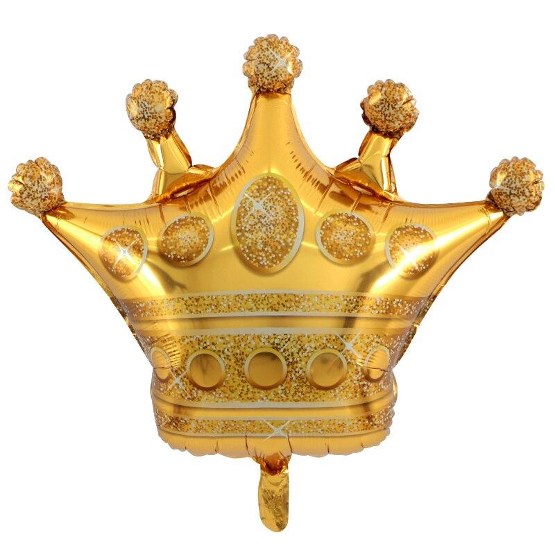 1pcs large gold crown helium balloon princess crown foil balloons ...