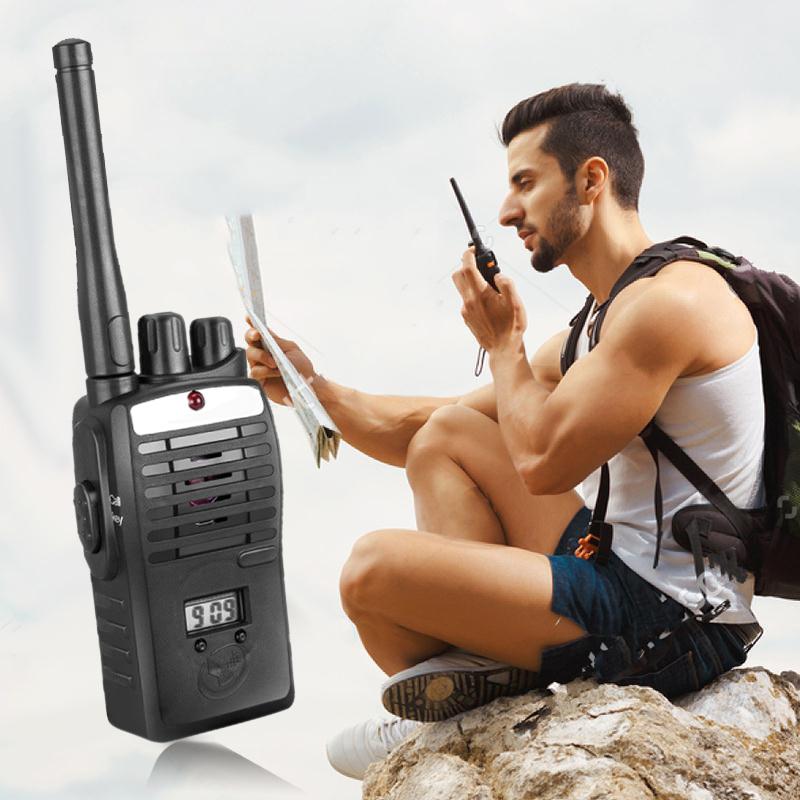 2pcs Electronic Interphones Ear Game Portable Radio Walkie Talkie Interphone Intercom Children Kid Toys Handle Two Way Radio