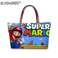 ELVISWORDS 3D Super Mario Stampa Borsa Delle Donne di Grande Capacità Del Fumetto Borse A Tracolla Bolsas Epoca Femininas Borse Maniglia Superiore