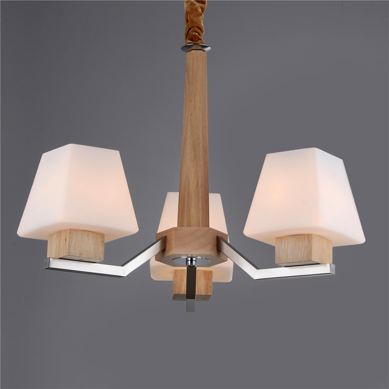 The New Features Of The New Nordic Furniture Wooden Chandelier Lighting Lighting 3 Antiq ...