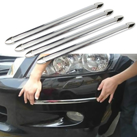 4pcs Car Anti Collision Strip Bumper Protector Car Crash Bar Anti Rub Bar Retail Bumper Crash