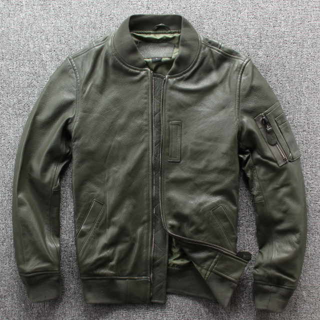 Frete grátis. nova marca clássico ma 1 couro jaket.goatskin flight coat, estilo japão jaquetas de couro genuíno. qualidade mais tamanho