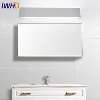 IWHD алюминиевый современный простой светодиодный настенный светильник, модный светильник для ванной комнаты, зеркальный светильник S, свети...