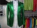 Бесплатная доставка зеленый блестки мужские темно-смокинг / это только куртка, Не включают другие
