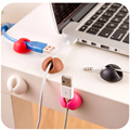 6pcs/lot Brand Car Styling Universal Desktop Plastic Flat Adhesive Wire Cable Clips Clamps Fixer Holder car home dual round Clip