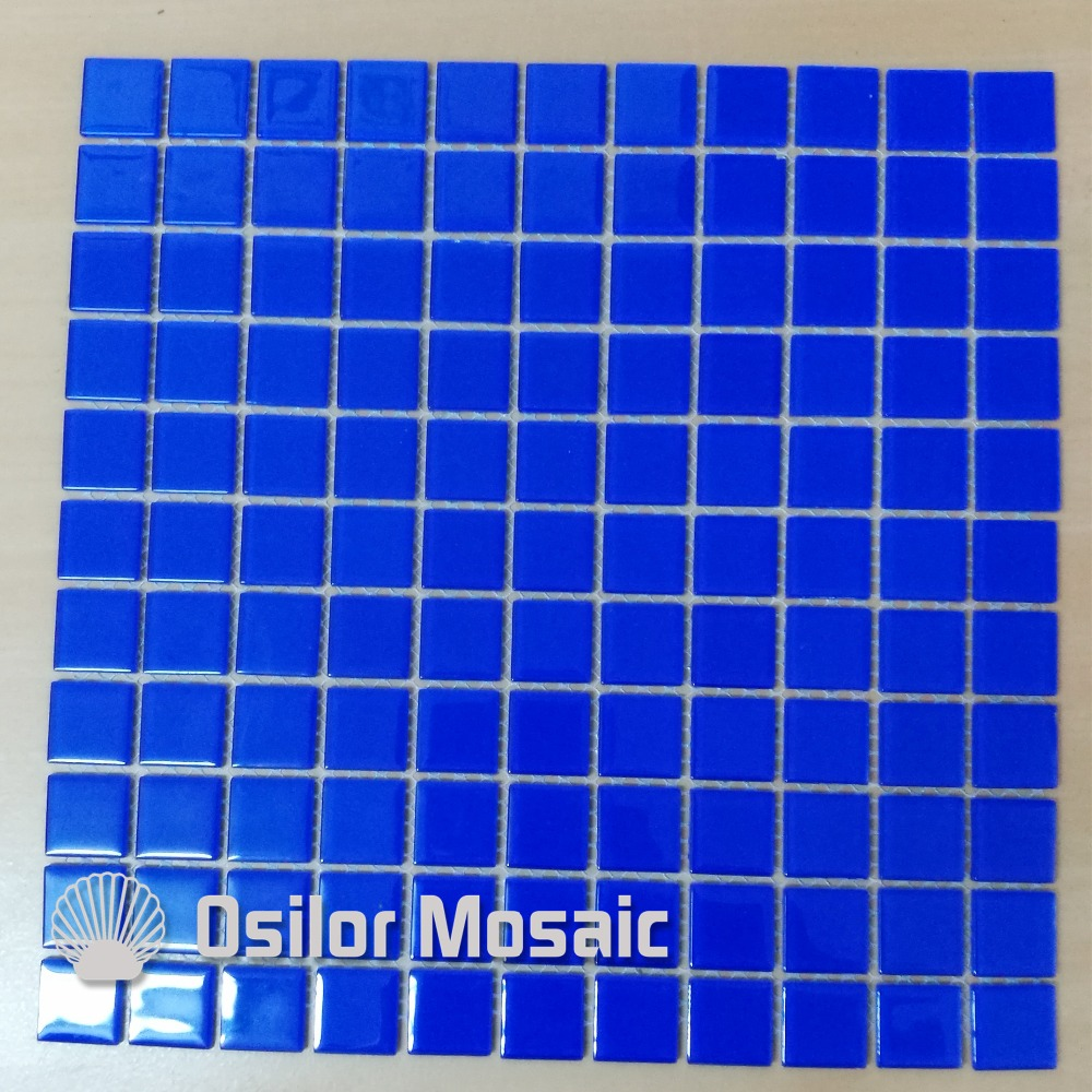 Free Shipping Blue Glass And Crystal Mosaic Tile For