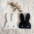 Lovely Pets  Fashion Nordic Style Wooden Cartoon Rabbit Kids Room Wall Sticker Wall Hanging Hook Home Decor jan25