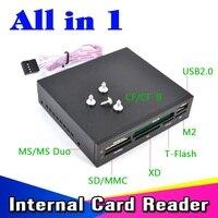 KEBIDU-Panel de memoria Flash USB 3,5 de 2,0 pulgadas, todo en 1, Bahía de Floopy interna, lector de tarjetas XD/SD/CF/T-Flash/MS