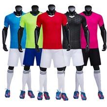 18 19 комплектов Детская Футбольная форма для мужчин детский футбольный набор чёрный футбольный командный тренировочный «дышащая» Униформа QD 003