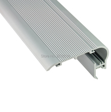 16 X 1M Sets/Lot Anodized stair step aluminium profile for led strips and led stair channel for step ladders lights