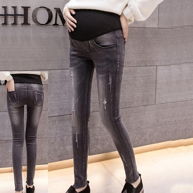 427e1a2ed1440 2019 Spring Pregnancy Clothes Women Jeans Woman Pants Maternity Jeans For Pregnant  Women Nursing Trousers Pregnant Pants M-2XL