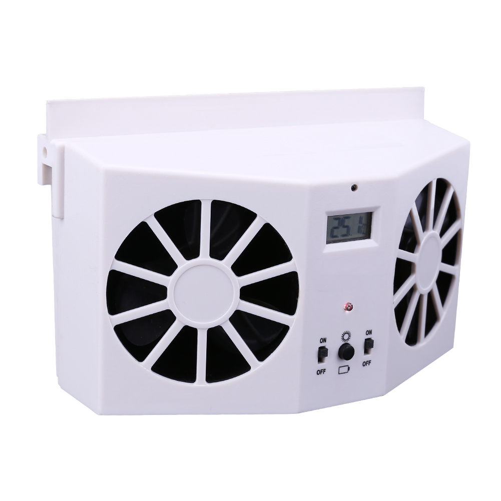 Solar Sun Powered Car Window Auto Air Vent Cool Coolling Fan Cooler Energy Saving Ventilation System Radiator Car styling