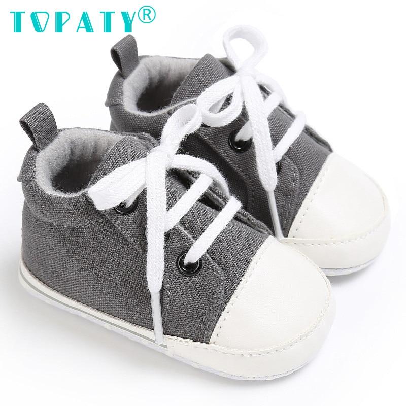 TOPATY 0-18M Baby Boys Girls zasznurować buty Canvas Sapatos De - Buty dziecięce - Zdjęcie 1