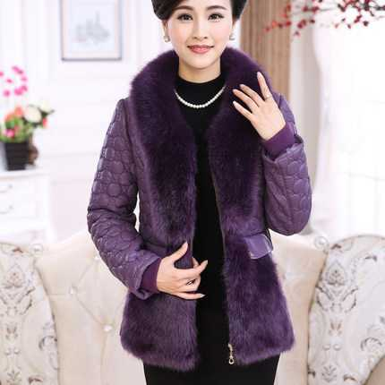 ФОТО Winter Coat Women 2016 New Design Faux Fur Patchwork PU Leather Slim Parkas Fashion Ladies Cotton Padded Jackets A4279