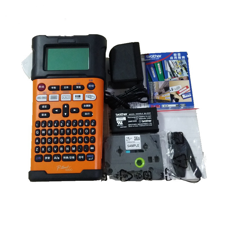 US $199 68 22% OFF|100% Original LDYE Barcode Printer Brother PT E300 Label  Printer Computer Label Printe-in Printers from Computer & Office on