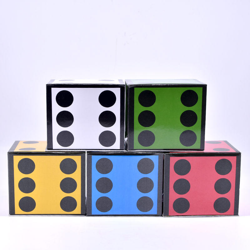 New Card Dice (5 Dice) Magic Tricks Jumbo Cards To Giant Dice Magia Magician Stage Illusion Gimmick Prop Funny Mentalism
