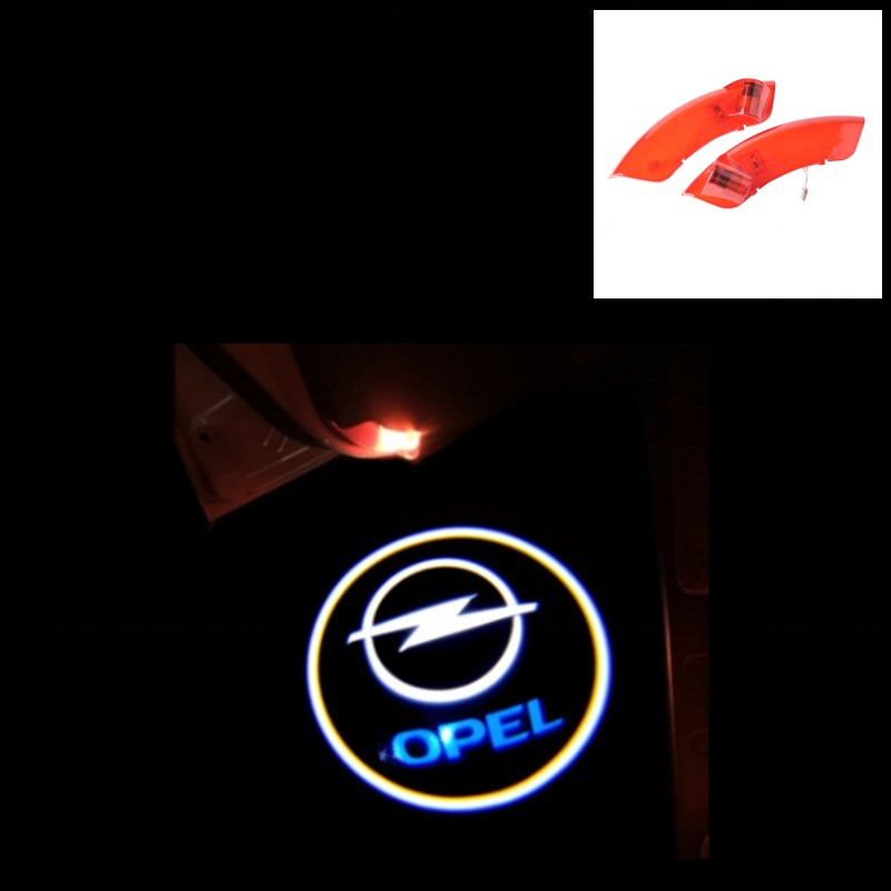 no drilling car door logo lamp 3d led logo welcome light car led door light for opel antara image