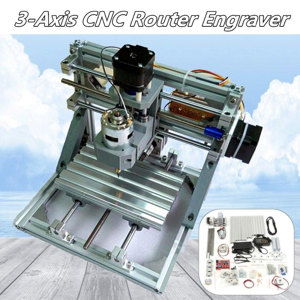 BRICOLAGE Mini 3 Axes Routeur CNC Machine 1610 GRBL Contrôle CNC Graveur PCB PVC Fraisage Sculpture Sur Bois Machine Zone De Travail 16x10.5x3 cm