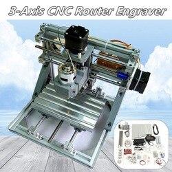 DIY Mini 3 Achsen Router CNC Maschine 1610 GRBL Control CNC Graveur PCB PVC Fräsen Holz Carving Maschine Arbeits Bereich 16x10,5x3 cm