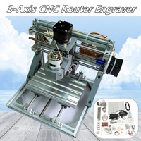 DIY Mini 3 Axis Router CNC Machine 1610 GRBL Control CNC Engraver PCB PVC Milling Wood Carving Machine Working Area 16x10.5x3cm