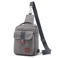 Fabra Men Canvas Small Sling Chest Pack Handbag Vintage Shoulder Crossbody Bag Function Small Men Messenger