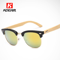 Fashion Street All Fit Bamboo Sunglasses With UV400 Lens Effect of Wood Glasses Grain Shades occhiali da sole With Design Box