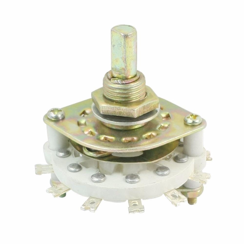 1PCS Plastic Knob Single Deck Rotary Switch 1P6T/1P7T/1P8T/1P9T/1P10T/1P11T/2P3T/2P4T2P5T//3P3T