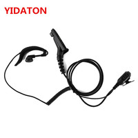 YIDATON 10pcs G Shape Ear Hook Earpiece w/PTT for Motorola APX4000 APX2000 APX6000 XPR6300 DP4800 DP3400 MTP6550 XIR P8200 P8268