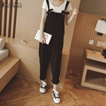 ZANZEA 2016 Rompers Womens Jumpsuit Casual Loose Cotton Pants Ladies Fashion Sexy Strap Solid Overalls Plus Size